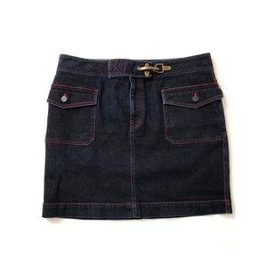 Ralph Lauren Denim Mini Skirt Dark Wash  Size 12